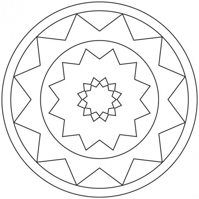 Sterne-Mandala 14 für Kindergarten, KiTa und Schule