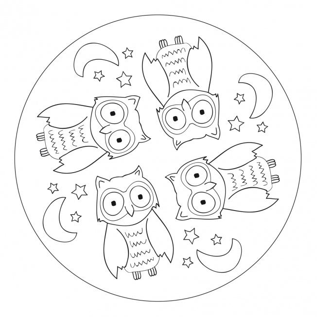 Tier Mandala Eule F 252 R Kindergarten Kita Und Schule