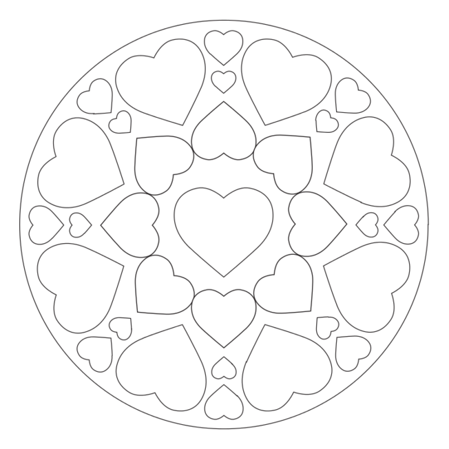 Mother S Day Hearts Coloring Pages