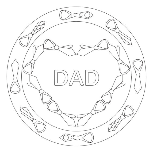 Father's Day Mandala with Neckties