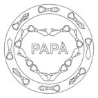 Festa del papà - mandala con cravatte