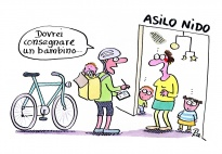 Corriere in bicicletta