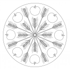 Fall Mandala with Apples and Grains