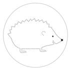 Dotted Mandala with a Hedgehog