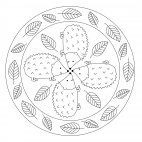 Tier-Mandala Igel