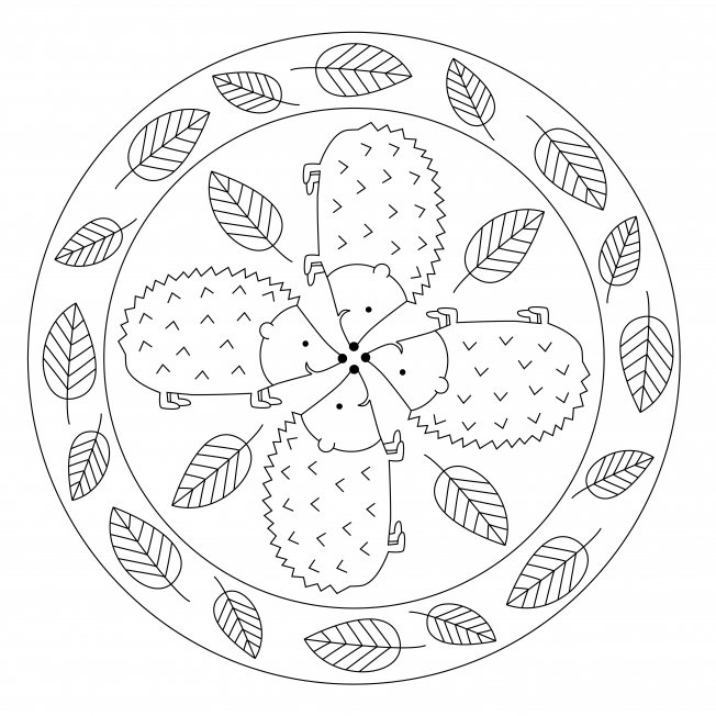 tiermandala igel für kindergarten kita und schule