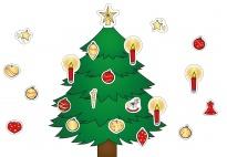 Mein Weihnachtsbaum/Christbaum - ein Ausschneidebild