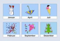 kinderkalender-jahreszeiten-bildkarten für kindergarten, kita und schule