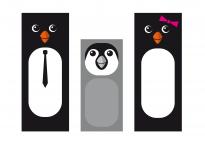 Pinguin-Fingerpuppen zum Ausdrucken