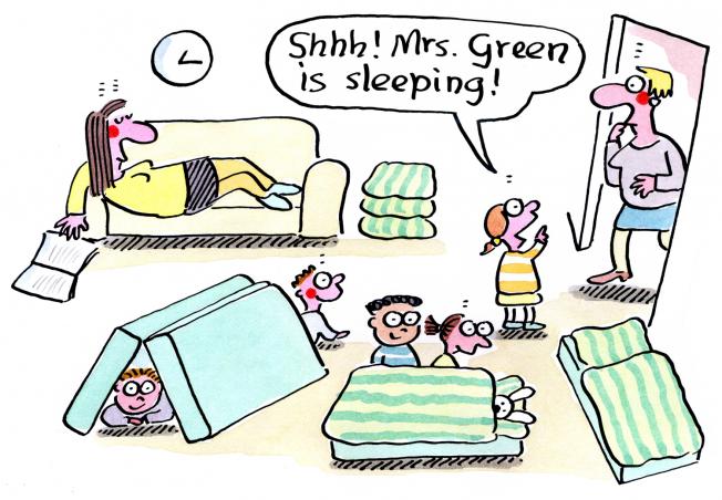 Kigaportal_preschool_Cartoons_Renate Alf_Afternoon Nap