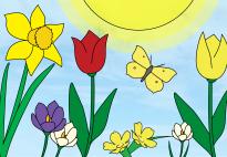 Portfolioblatt: Ich freue mich auf den Frühling