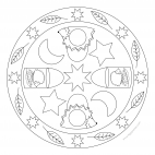 Igel-Laternen-Mandala