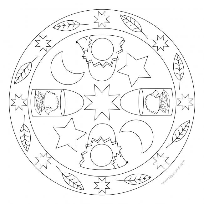 Igellaternen-Mandala