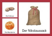Der Nikolaussack: Bild-Wortkarten bunt