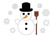 Der Schneemann - ein Gedicht  für die Sprüchebox