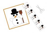 Der Schneemann - ein Schneidebild für die Sprüchebox