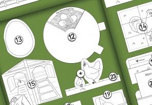 Project Plan: Chicken Lapbook (B/W)