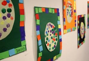 Osterbilder mit Mosaik - Rahmen