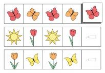 Logische Reihen: Frühlingbilder fortsetzen 1