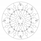 Hühner-Mandala 2