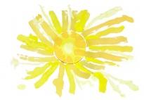 Die Frühlingssonne - Malen mit Gelbtönen
