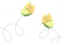 Die Zitronenfalter - eine grafomotorische Schwungübung