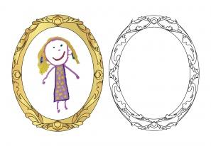 Portfolioblatt: Familienportraits oval