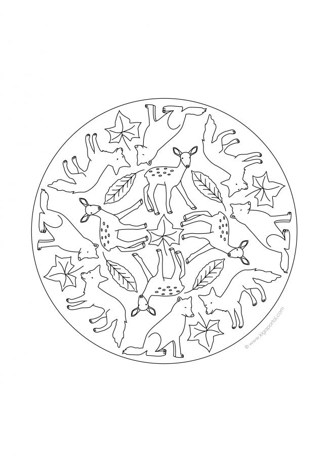 mandala waldtiere