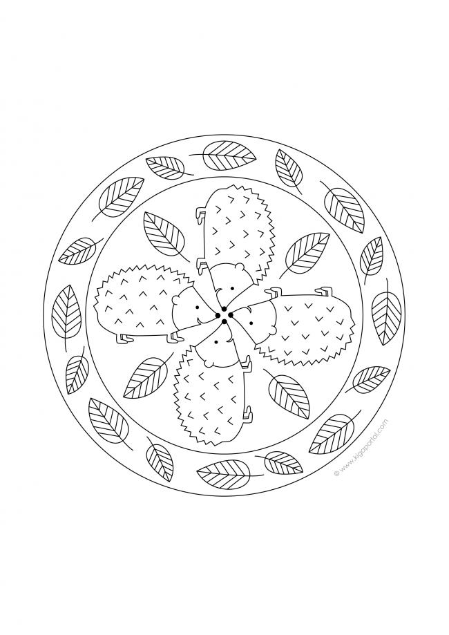 mandala igel zum ausmalen  malvorlagen