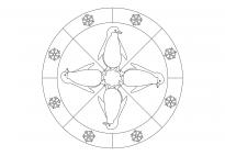 Pinguin-Mandala