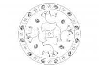 Eichhörnchen-Mandala 2