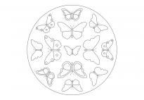 Frühlings-Mandala mit Schmetterlingen