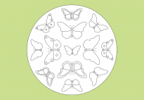 Spring Mandala with Butterflies