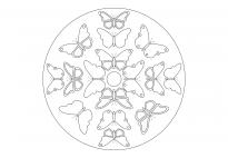 Frühlings-Mandala mit Schmetterlingen 1