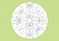 Spring Mandala with Butterflies 2