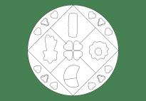 Weihnachtsgebäck-Mandala 1