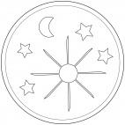 Sun, Moon and Stars Mandala