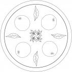 Mandala con frutta: arancio