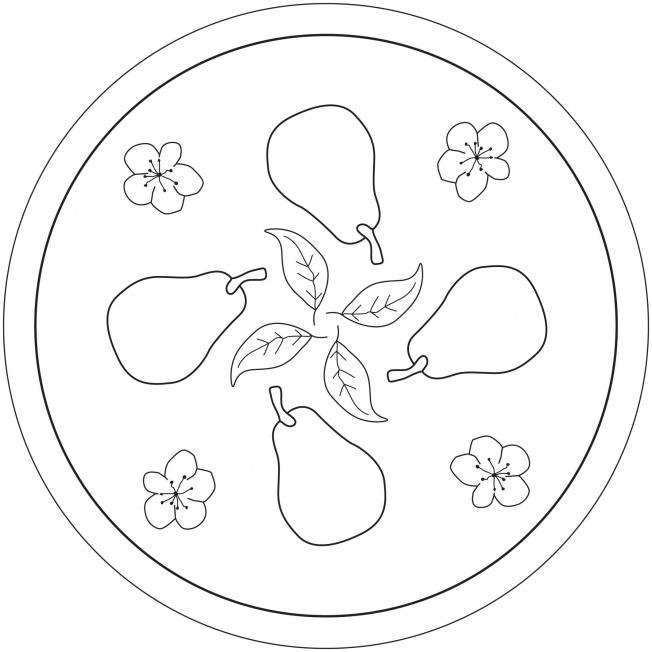 Birnen-Mandala