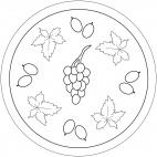 Mandala con frutta: uva