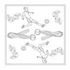 Fußball-Mandala 2