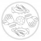 Fußball-Mandala 1