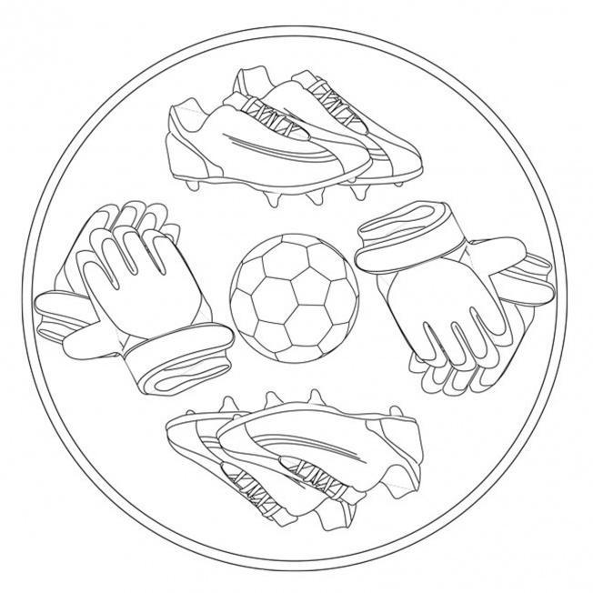 fußball-mandala 1 für kindergarten, kita und schule
