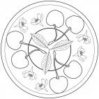 Kirschen-Mandala