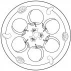 Pfirsich-Mandala