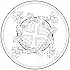 Erdbeer-Mandala