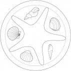 Seestern-Mandala