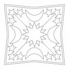 Mandala con luci: stelle 1