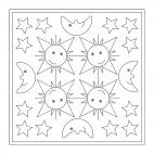 Smiling Sun, Moon and Stars Mandala