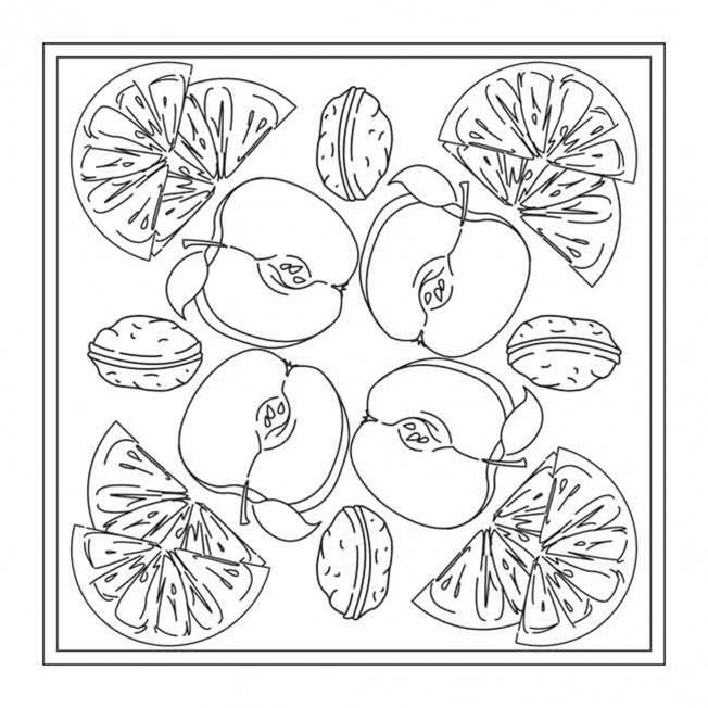 winter fruit mandala for pre k kindergarten and. Black Bedroom Furniture Sets. Home Design Ideas